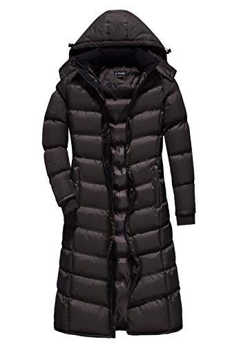 U2Wear Women's Water Resistance Puffer Winter Full Length Coat with Detachable Hood (M, Coffee)