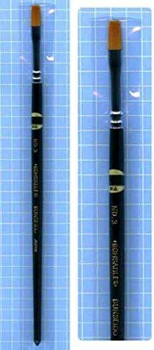 平筆 ハイ・セーブル 3号 (平) UMHS103/ 文盛堂 特殊ナイロン仕様 プラモデル塗装用筆 腰の強さと弾力性にすぐれた筆です