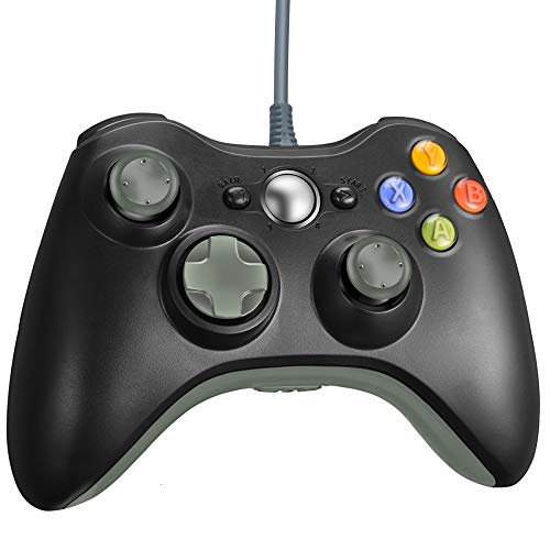 - VOYEE Xbox 360 Controller - Wired Controller for Windows PC & Xbox 360 Console (Black & Grey)