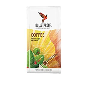 Bulletproof French Kick Dark Roast Whole Bean Coffee, Smooth and Sweet with Pleasantly Smoky Baking Chocolate Notes (12 Ounces)