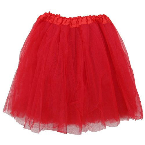 EXTRA PLUS SIZE Adult Tutu XXL - Princess Costume Ballet Warrior Dash Running Skirt (Red) (Plus Size Tutu Skirt)