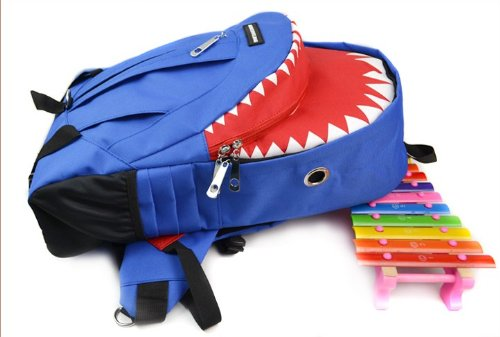 AIDUODUO School Gift Weatherproof Child Daypack Shark(L) (Blue)