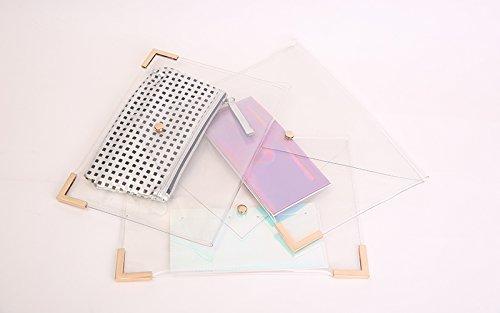 Zarapack, Poschette giorno donna trasparente Transparent M Style 3