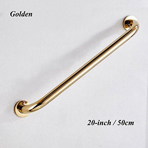 JCWANGDEFU Brass Grab Bar Handrails Hand Grips Safety Handle Assist Railings for Bathtub Bathroom Shower Toilet, Golden, 20'' by JCWANGDEFU