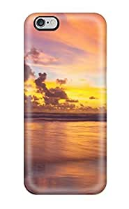 CC WalkingDead Case Cover Protector Specially Made For iphone 5c Sun Sets At The Beach