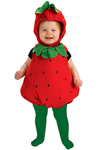Strawberry Halloween Costumes Toddler - Rubie's Newborn Deluxe Berry Cute Costume, Red/Green, Infant
