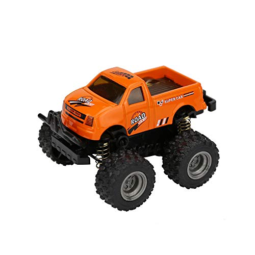 (Nesee Pull Back Cars Vehicles,Mini Car Big Tire Model Construction and Raced Trucks for Toddlers Gift Cars (Orange))