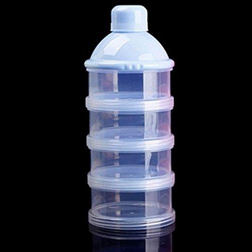 TOOGOO Formula Dispenser, BPA Free Non-Spill Baby Milk Powder Dispenser & Snack Cup Storage Container (Blue)