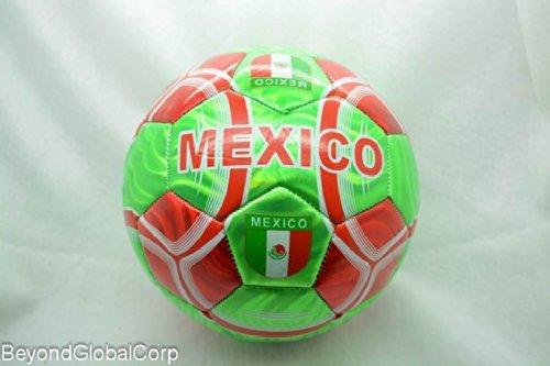 ブランド新しい高品質メキシコサッカーボールwithレッドandグリーンカラー公式サイズ5 aka ( Football )   B00L2P1FEM