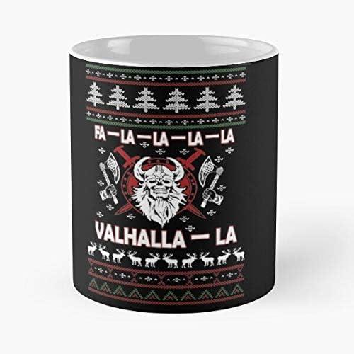 Fa La Valhalla Christmas Ugly Viking Gift Tee Tshirt C Best Nobble 11oz Gift Cups