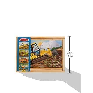 Melissa & Doug Construction Vehicles 4-in-1 Wooden Jigsaw Puzzles (48 pcs)