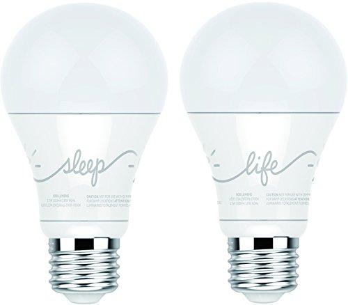 GE Lighting 44291 C by GE C-Life/C-Sleep LED Light Bulb Combo, 2-Pack