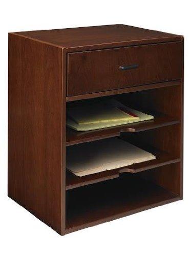 Mayline Sorrento Horizontal Hutch Organizer, 17-1/2w x 12-1/2d x 19-3/4h, Bourbon Cherry (MLNSHHSCR) Category: Desk Trays