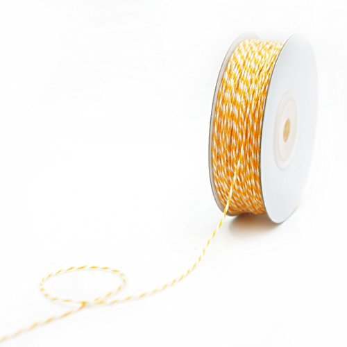 (CT CRAFT LLC Bakers Twine 1mm x 100 Yard.Decorative Bakers Twine for DIY Crafts and Gift Wrapping -Light Gold)