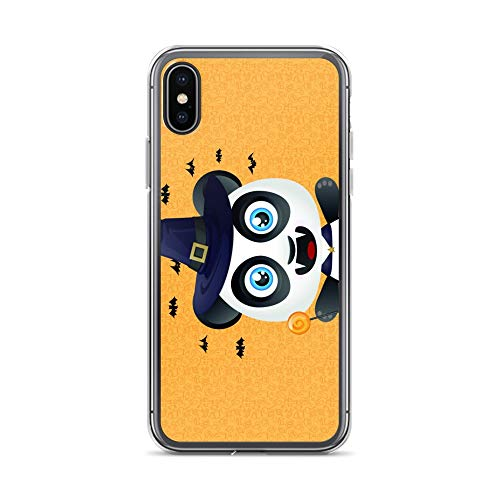 iPhone X/XS Case Anti-Scratch Creature Animal Transparent Cases Cover Panda Halloween Animals Fauna Crystal Clear -