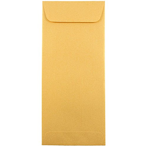 Metallic Business Envelopes - 4 1/8 x 9 1/2 - Gold Stardream - 25/Pack ()
