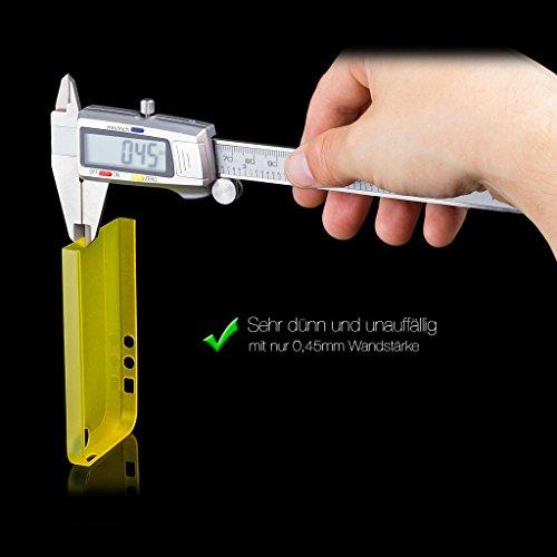 Apple iPhone 5C | iCues Zéro gris mat Case | [Protecteur d'écran, y compris] la lumière supplémentaire très mince protecteur de feuille transparente Temps clair de protection Housse de protection Couv