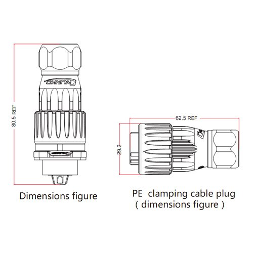 CNLINKO 4 Pin Power Industrial Circular Connector, Male Plug & Female Socket, Outdoor Waterproof IP67, Signal AC DC, Alluminum Zinc Alloy Metal Case Heavy Duty by CNLINKO (Image #2)