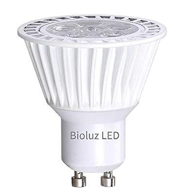 Bioluz LED GU10 50W Equiv Dimmable 6.5w 3000K 120v UL Listed