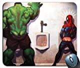spiderman mouse pad - Hulk Vs Spiderman - No Contest Mouse Pad