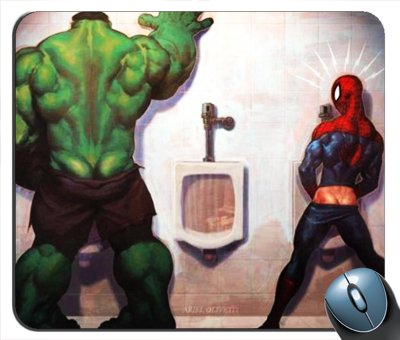 Price comparison product image Hulk Vs Spiderman - No Contest Mouse Pad