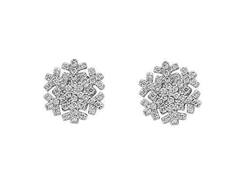 Boucles d'Oreilles Flocon de Neige-Femme- or Blanc 214E0001