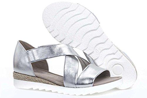 Gabor Shoes 62.711, Sandalias Mujer silber (Jute)