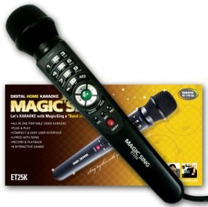 2016 ET25K Tagalog Filipino Version Magic Sing Magic Mic Karaoke Microphone with 2,300 songs and (Free Extra Pop 11 Song Chip)