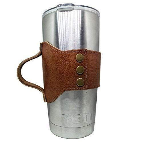 レザーカップホルダーfor Mason Jarまたはイエティ20オンスタンブラー。Yetiラップby Dingo   B076Q8CQ4C