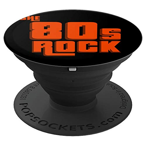 80s Rock Music 1980s Style Vintage Party Disco - PopSockets Grip and Stand for Phones and Tablets ()
