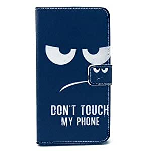 YULIN no toque mi teléfono del modelo estuche de cuero pu con soporte de la tarjeta soporte para Samsung Galaxy Note N9000 3