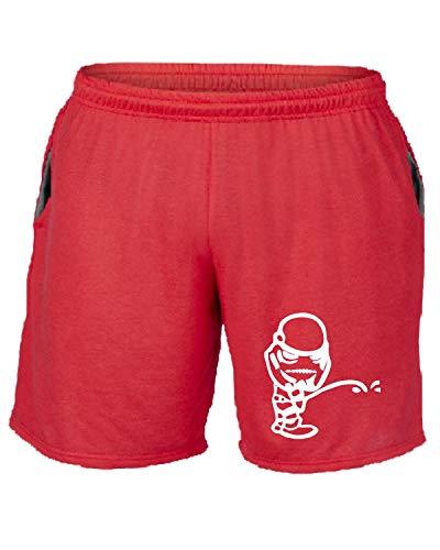 T Pantaloncini Fun0470 Peeon Rosso Tuta shirtshock Diecut R70wqRZx