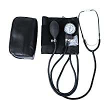 HealthSmart Manual Home Blood Pressure Monitor with Standard Cuff and Stethoscope, Cuff Size: 13 to 17 inches, Black