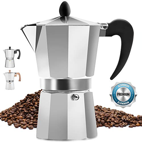 Classic Stovetop Espresso Maker for Great Flavored Strong Espresso
