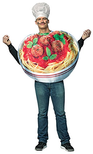 Mens Halloween Costume- Spaghetti and Meatballs Get Real Adult Costume]()