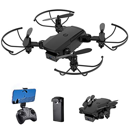 Mini Drone for Kids – 4K Dual Cameras FPV RC Quadcopter Foldable Remote Control Drone Toys Gifts for Boys Girls with Tap…