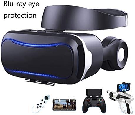 バーチャルリアリティのメガネ3D 110°FOV 4.7〜6.0インチのiPhone / Androidスマートフォンに対応 ゲーム映画,Black,Package8