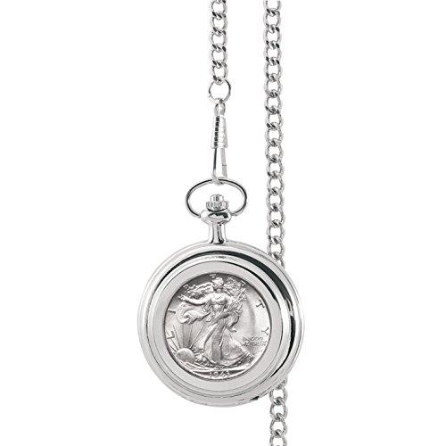 Pocket Dollar Watch (American Coin Treasures Silver Walking Liberty Half Dollar Pocket Watch)