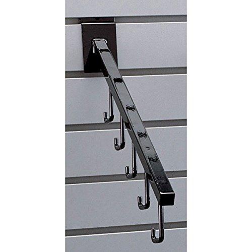 Pack of 100 New Retails Black 5-Hook Slatwall Waterfall 16'' long