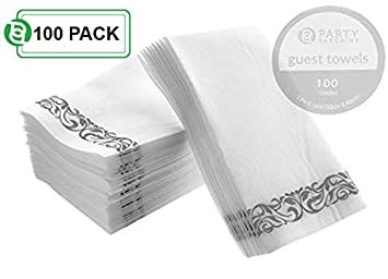 Fiesta Bargains linen-feel desechables Toallas de papel para invitados | Durable & decorativa suave