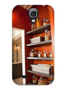 OEeiveH21995HCaNc Case Cover, Fashionable Galaxy S4 Case - Wood Shelves In Laundry Room For Pantry And Storage