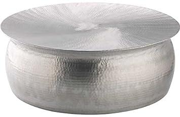 Habitat Orrico Coffee Table - Hammered Aluminium.: Amazon.co.uk ...
