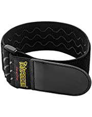 """Elastic Cinch Straps 18""""x2"""" (8 Pack) with Anti-Slip Silicone, Multipurpose Hook and Loop Storage Straps, Bundling Straps for Bike, RV, Boat, Garden, Extension Cords, Cables,Ropes, Hoses Organization"""