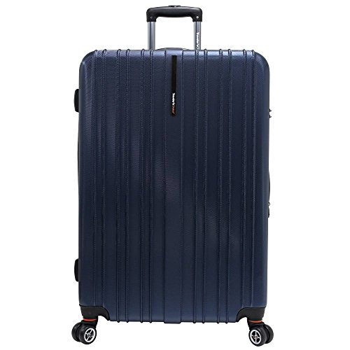 "Traveler's Choice Tasmania 100% Pure Polycarbonate 29"" Expandable Spinner Luggage, Navy"