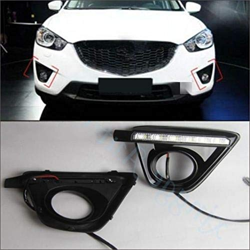 [해외]Auto-Tech 1 Set Car LED light Daytime Running Light Retrofit LED White light color DRL kit For Mazda CX-5 2013-2014 (White light) / Auto-Tech 1 Set Car LED light Daytime Running Light, Retrofit LED White light color DRL kit For Maz...