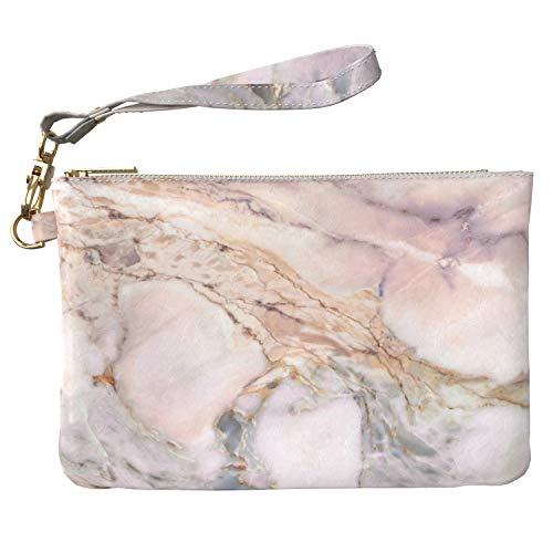 590579f393be Lex Altern Makeup Bag 9.5 x 6 inch Marble Basic Texture Natural Grey  Designed Print Purse Pouch Cosmetic Travel PU Leather Case Toiletry Women  Zipper ...