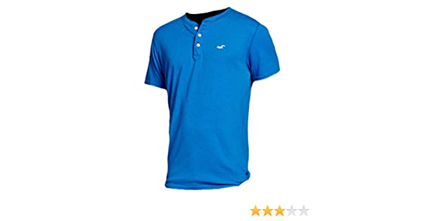 Hollister - Camiseta - Camiseta - Básico - con botones - Manga ...