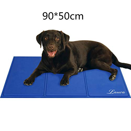 Lauva Dog Cool Mat, Dogs Self Cooling Gel Mat Pads Pet Cat Cool Beds for...