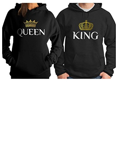 e85d05cefe King & Queen Matching Couple Hoodie Set His & Hers Hoodies | Weshop ...