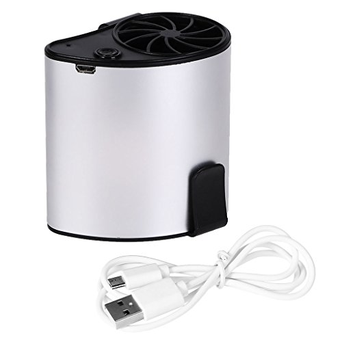 Richi Mini Portable Waist Fan USB Rechargeable Air Conditioner Camping Outdoor Working (Gray) by Richi